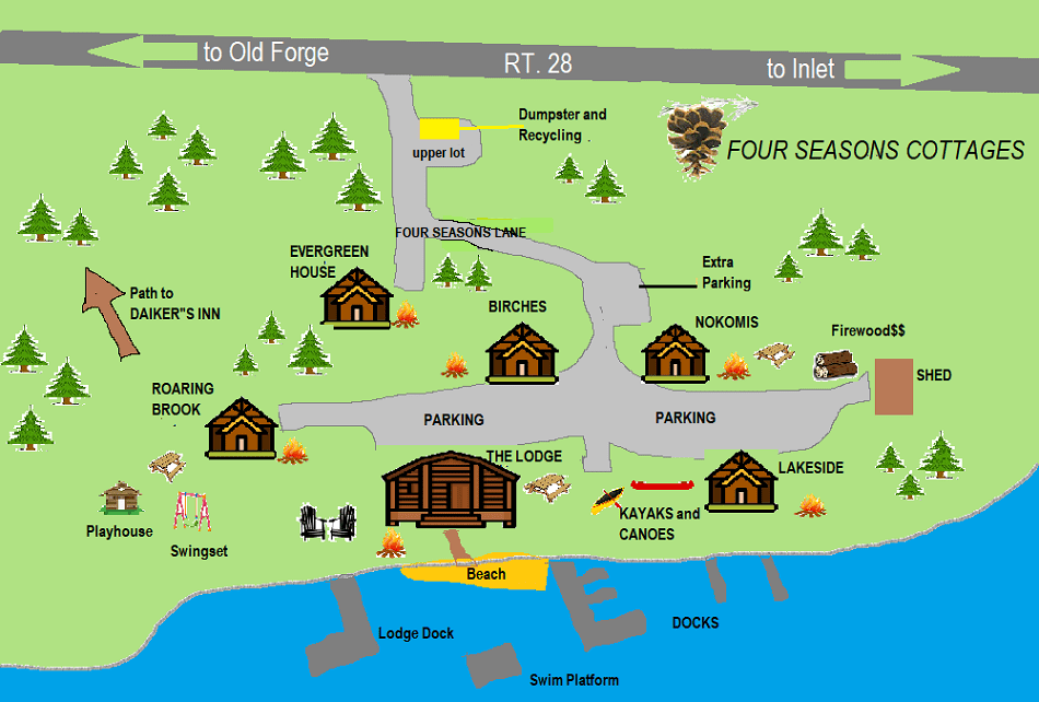 FOUR SEASONS COTTAGES AREA MAP